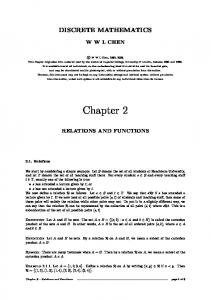 Chapter 2: RELATIONS AND FUNCTIONS - Mathematics