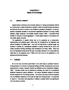 CHAPTER 2 State of Knowledge - VTechWorks