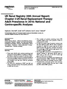 Chapter 2 UK Renal Replacement Therapy Adult ... - UK Renal Registry