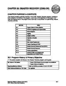 Chapter 20: Disaster Recovery - HUD