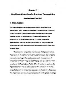 Chapter 21 Combinatorial Auctions for Truckload Transportation