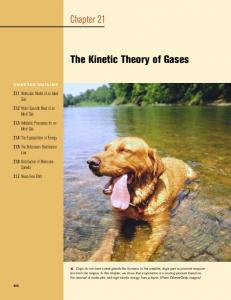 Chapter 21 The Kinetic Theory of Gases - ECHSPhysics
