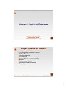 Chapter 22: Distributed Databases - UCLA Computer Science