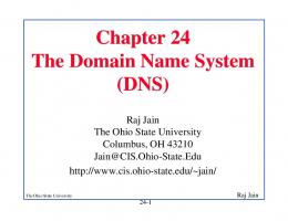Chapter 24 The Domain Name System (DNS)