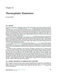 Chapter 24 - Thermoplastic Elastomers
