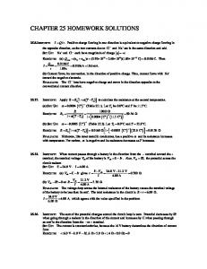 chapter 25 homework solutions - Physics and Astronomy at TAMU