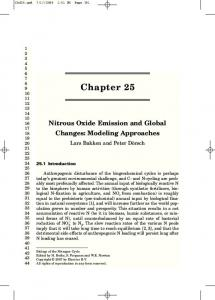 Chapter 25 Nitrous Oxide Emission and Global Changes