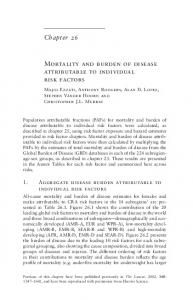Chapter 26 Mortality and burden of disease attributable to individual ...