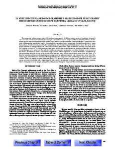 chapter 29. multispecies planktonic foraminifer stable isotope ...