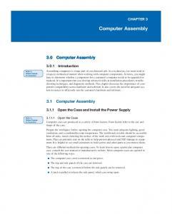 Chapter 3: Computer Assembly - Pearsoncmg