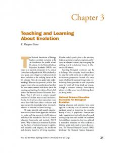 Chapter 3 - Explore Evolution