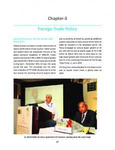 Chapter-3 Foreign Trade Policy - Department of Commerce