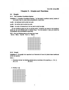 Chapter 3 - Graphs and Functions