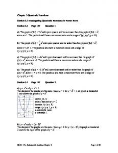 Chapter 3 Quadratic Functions - fortrichmondmath