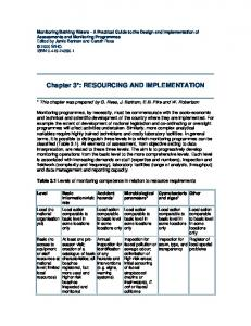 Chapter 3*: RESOURCING AND ... - World Health Organization