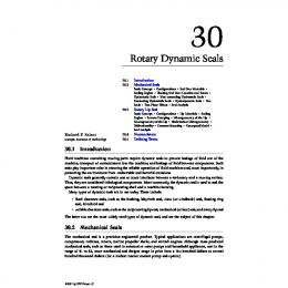 Chapter 30: Rotary Dynamic Seals