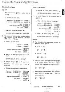 Chapter 31 : Nuclear Applications - Physics 11