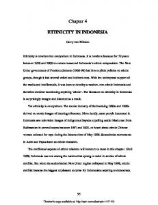 Chapter 4 ETHNICITY IN INDONESIA - SSRN papers
