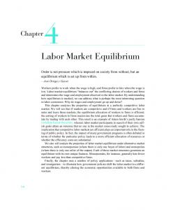 Chapter 4. Labor Market Equilibrium