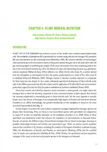chapter 4: plant mineral nutrition