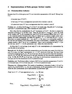 Chapter 4: Representations of finite groups: futher results - MIT ...