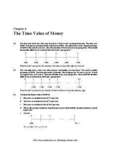 Chapter 4 The Time Value of Money - Tamu.edu