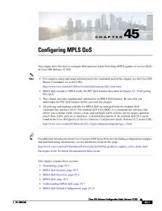 Chapter 45 Configuring MPLS QoS