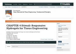 CHAPTER 4:Stimuli-Responsive Hydrogels for Tissue ...