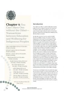 Chapter 4:You - Lowitja Institute