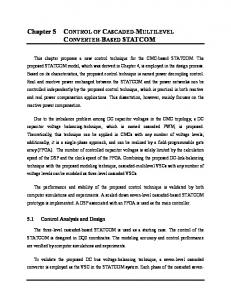 Chapter 5 CONTROL OF CASCADED-MULTILEVEL CONVERTER ...