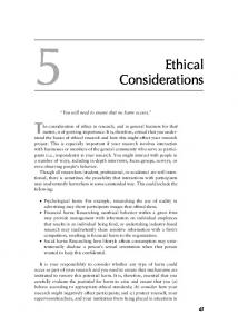 Chapter 5 - Ethical Considerations