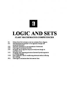 CHAPTER 5 Logic and Sets