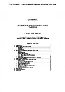 chapter 5.2. environment and the sterile insect ... - Biogeographie
