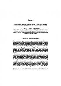Chapter 6 MICROBIAL PRODUCTION OF ... - Bashan Foundation