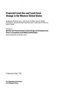 Chapter 6. Projected Land Use and Land Cover Change in the ...