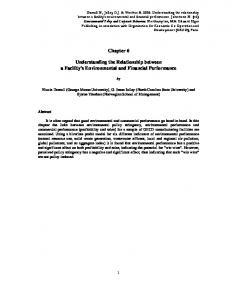 Chapter 6 Understanding the Relationship between a ... - SSRN papers