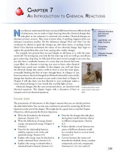 CHAPTER 7 - An Introduction to Chemistry