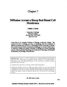 Chapter 7 Diffusion Across a Sheep Red Blood Cell Membrane