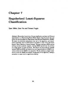 Chapter 7 Regularized Least-Squares Classification - Yeo Lab