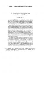 Chapter 8 Management Aspect for Crop Production 8.1 Analysis of ...
