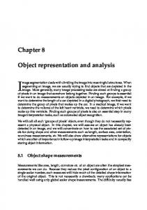 Chapter 8 Object representation and analysis