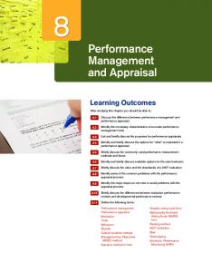 Chapter 8: Performance Management and Appraisal