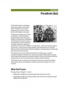 Chapter 8: Presidents Quiz