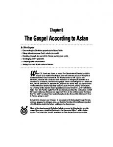 Chapter 8: The Gospel According to Aslan - NarniaWeb