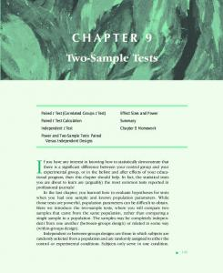 Chapter 9 - Two-Sample Tests