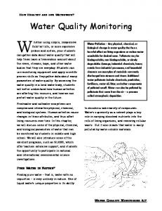 Chapter about Water Quality Monitoring (for teachers)