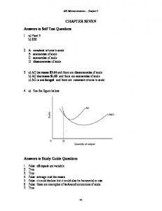 CHAPTER SEVEN Answers to Self Test Questions Answers to Study ...