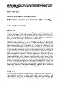 CHAPTER SIX Human Resources Management ... - TamPub