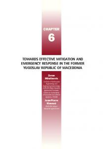 chapter towards effective mitigation and emergency ... - OECD.org