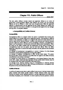Chapter VII. Public Officers